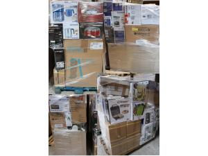 Mixed pallets household / electric / electronic returns